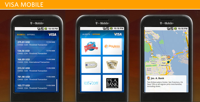 Visa Launches Android Mobile Application