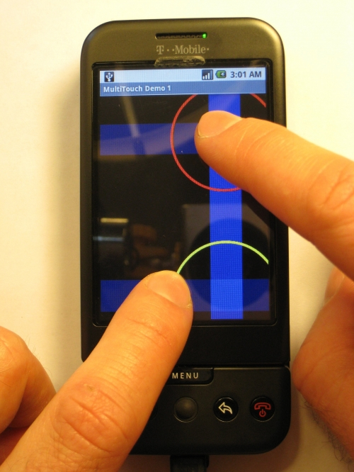 multi touch on the g1 video