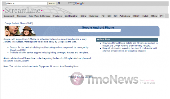 T-Mobile Officially Confirms Google Phone - TmoNews - Unofficial T-Mobile Blog - News, Videos, Articles and more_1262106323384