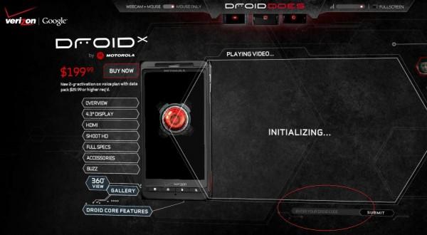 Motorola Droid X Unlock Code