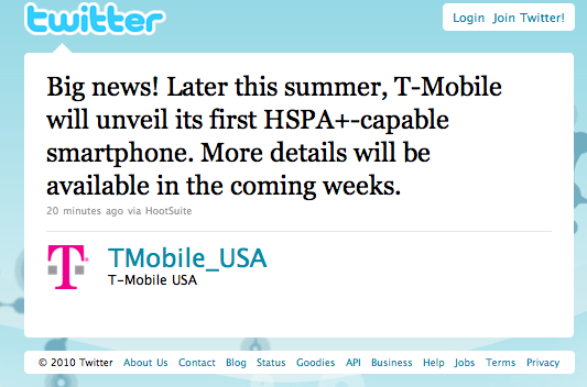 hspa+ phone this summer tmobile