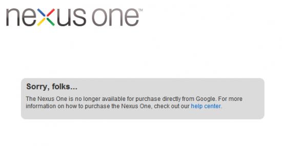 nexus one gone