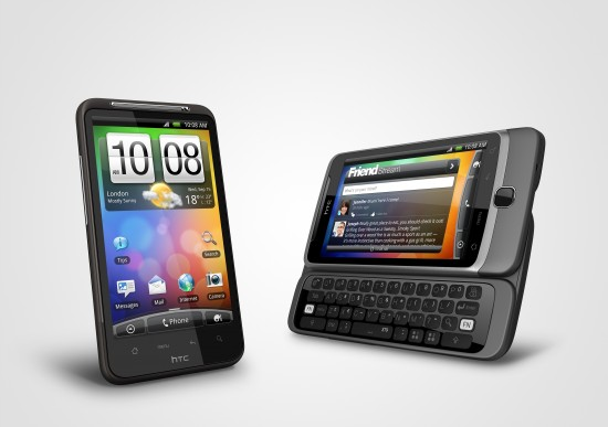 HTC Desire HD and Z