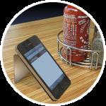 circle-smartphone-coaster