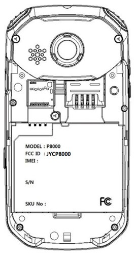 pantech-p8000-fcc-label