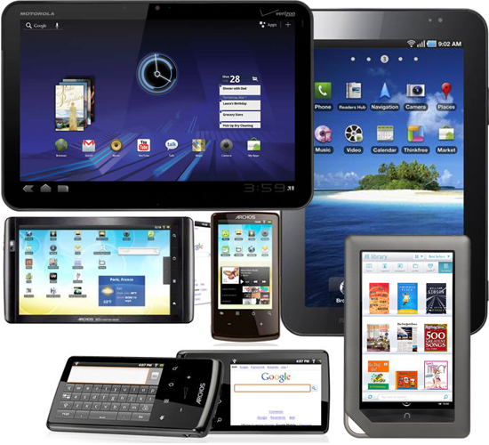 Various Android Tablets