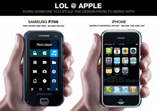 Samsung vs iPhone UI
