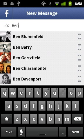 how to use facebook chat on android tablet