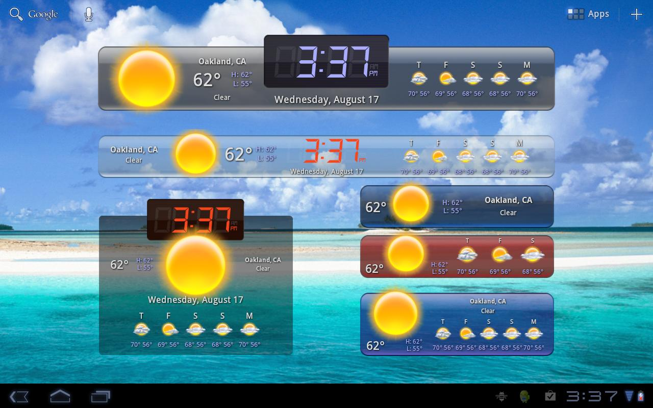Hd Widgets Gives You Beautiful Weather And Clock Widgets