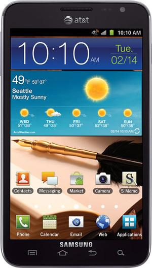 AT&amp;T Samsung Galaxy Note launches on February 19