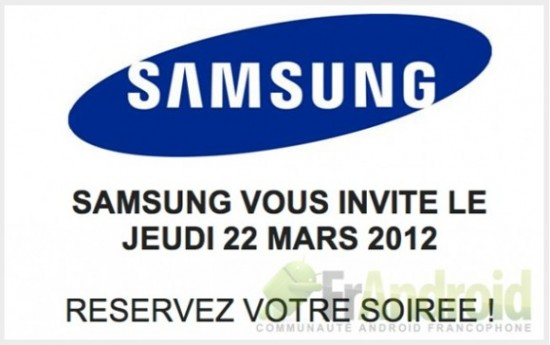 Samsung Galaxy S III MArch 22 550x345 Samsung schedules March 22 event in France, speculation begins about Galaxy S III | Tech NEWS