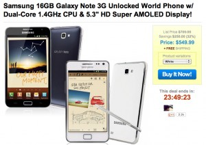 Gnote 1SaleaDay Sale