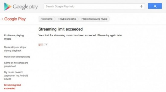 streaming limit 650x360 550x304 Google Music Seems to Have a Streaming Limit | Tech NEWS