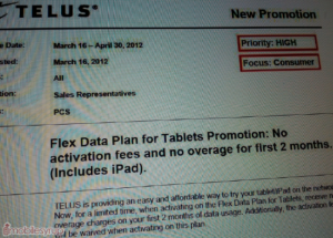 telus tablet flex plan