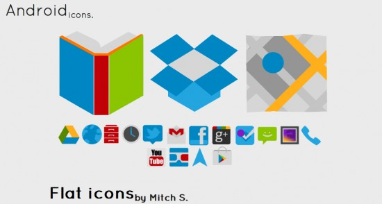 Flat Icons banner 550x294 Icon Pack per Android: Flat Icons