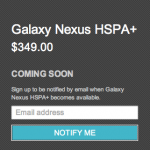 Galaxy nexus coming soon