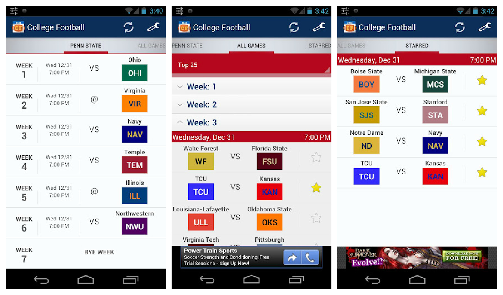 College Football 2012 Goes Live At Google Play