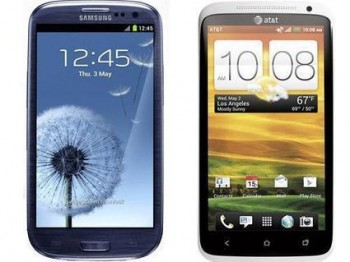 htc one x galaxy s3