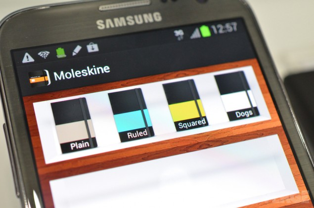 Legendary notebook maker moleskine launching android app for Galaxy maker