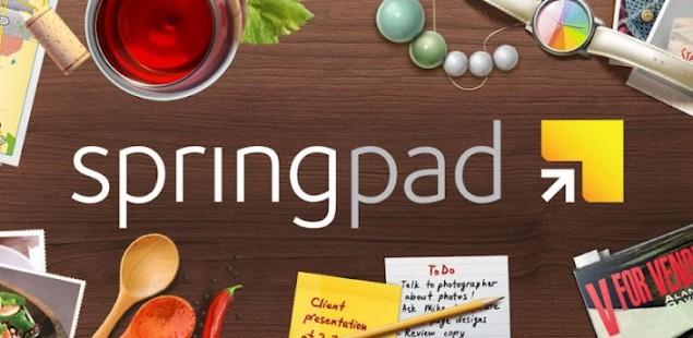 Springpad banner