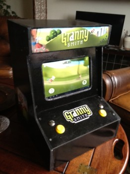 making an old school arcade machine with an android tablet