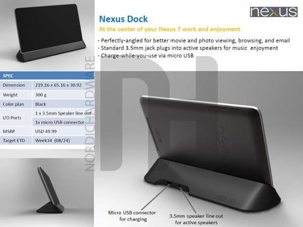 Official Nexus 7 dock appears on ASUS Japan's website – Coming soon to the US?