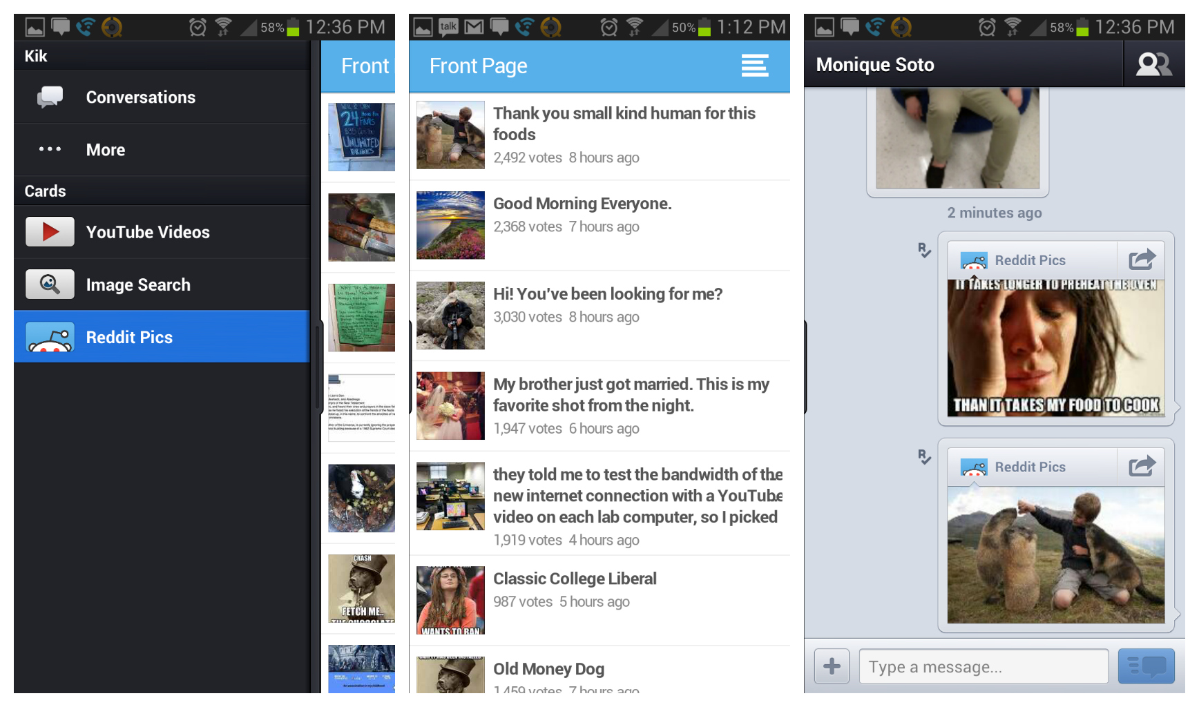 Latest Kik Messenger update infuses the app with Reddit browsing and ...
