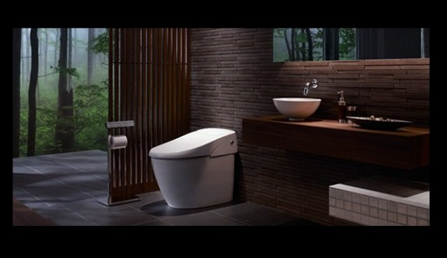 Android controlled toilet is japan 39 s latest bathroom Shower innovations