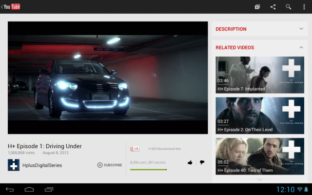 New YouTube Interface For 10 Inch Android Tablets Gets Updated, Adds 'Guide' Feature