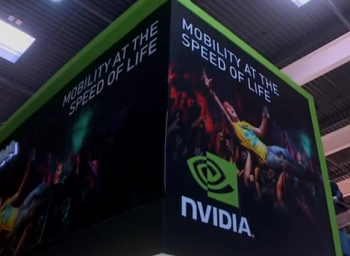 nvidia booth mwc