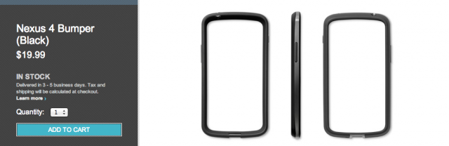 Annnnnnd… The Nexus 4 bumper is back in stock on Google Play