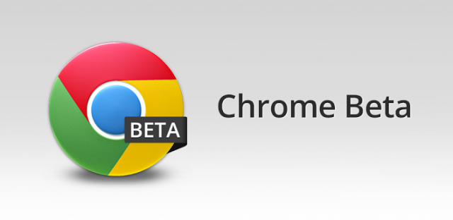 chrome beta banner