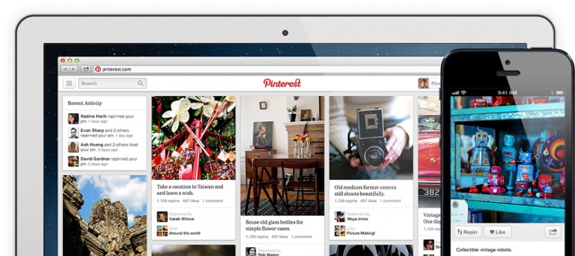 pinterest 640x285 - Pinterest redesign to be flanked with mobile app updates