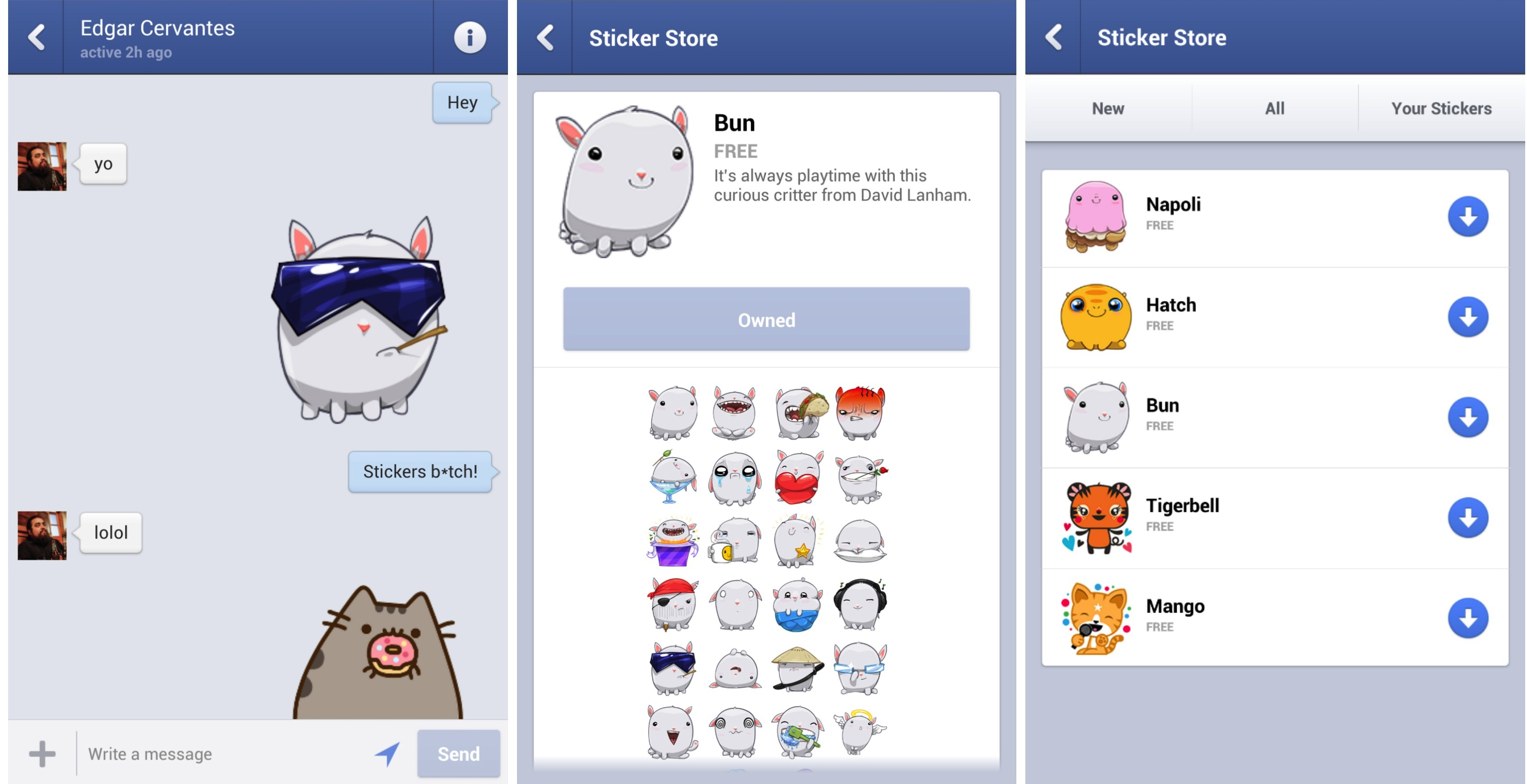 Facebook messenger update brings cutesy stickers to messaging app