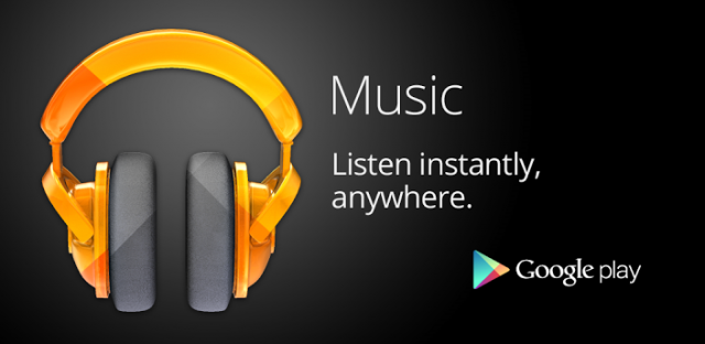 Google Play Music banner