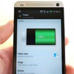HTC One battery life thumb
