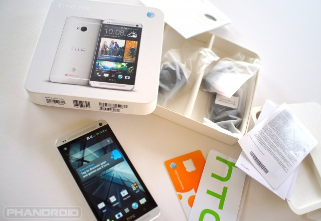 HTC One unboxed top down