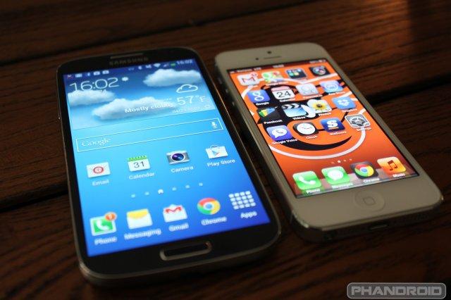 Sistemas operativos Samsung s4 vs iPhone 4