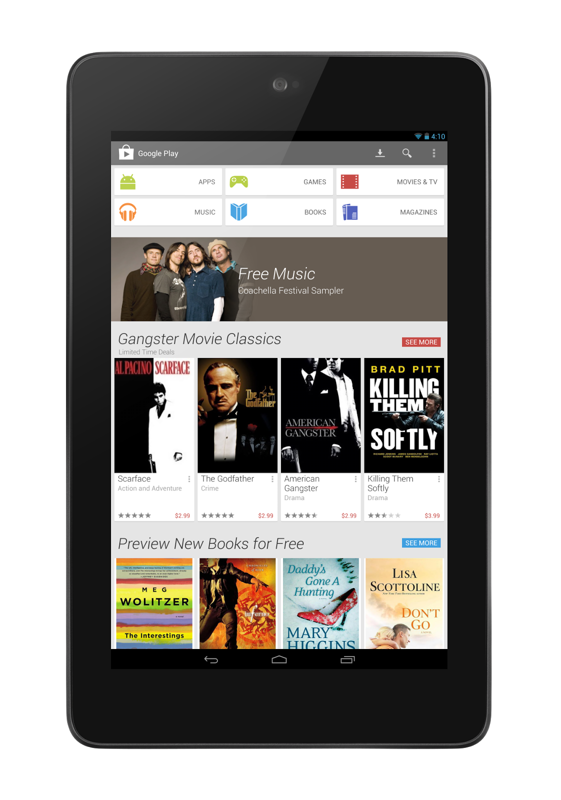the new play store 4 0