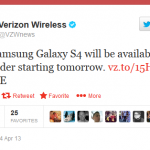 verizon galaxy s4 pre-orders