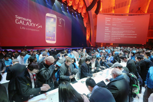 Samsung Galaxy S4 launch New York