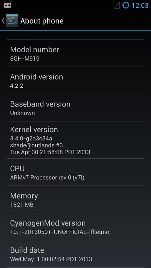 CyanogenMod Samsung Galaxy S4 T-Mobile
