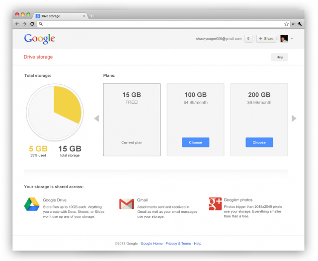 Free cloud shared drive google