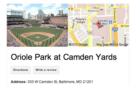 Camden Yards Address
