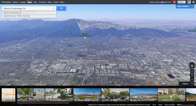 The New Google Maps Rancho Cucamonga