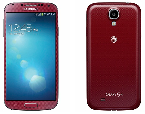 atampt galaxy s4 aurora red color option revealed