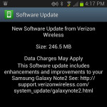 verizon galaxy note 2 android 4.1.2 update