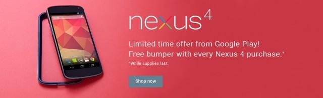 Black Nexus 4 free bumper promo banner