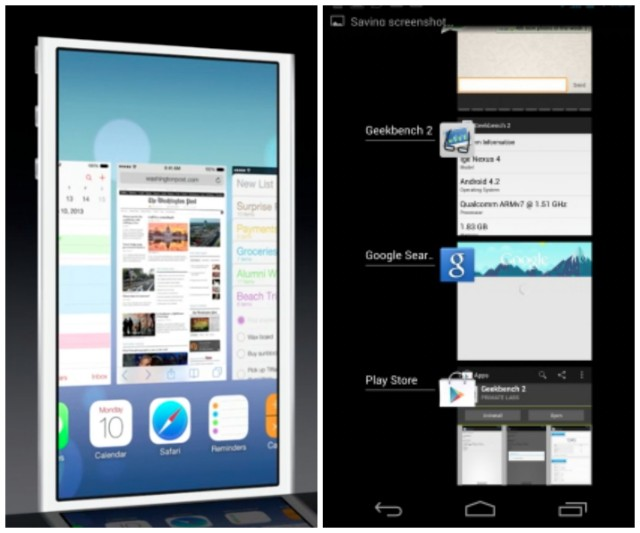 Android 4.2.2 vs iOS7