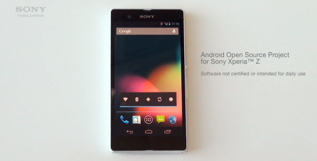 Sony Xperia Z AOSP video